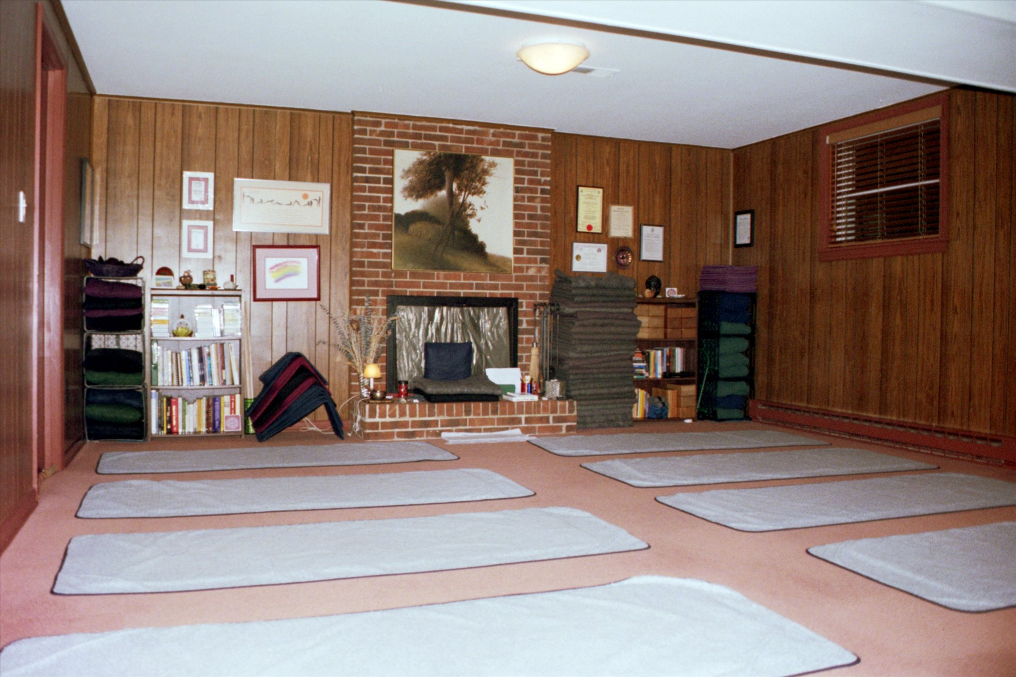 Studio looking toward instructor's seat.